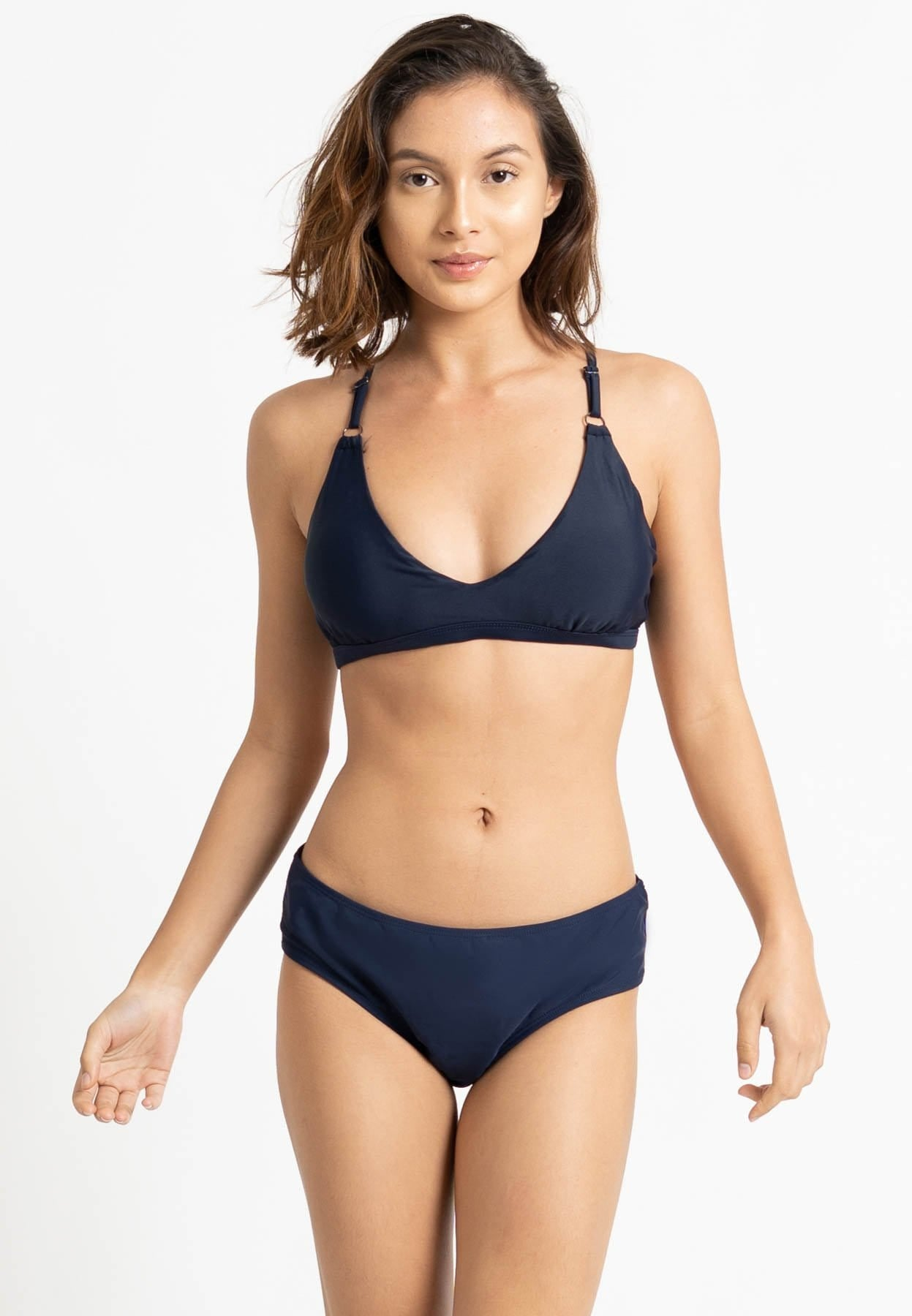 FUNFIT Back Lattice Bikini Top (Indigo) | S - 2XL