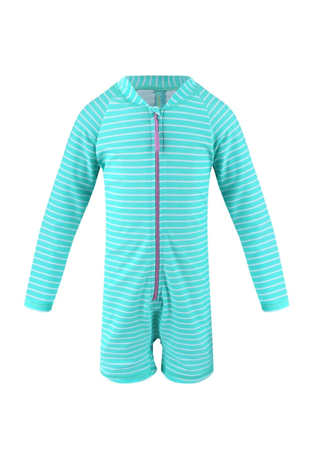 UPF50+ Junior Sunsuit (Unisex) in Bubblegum Print