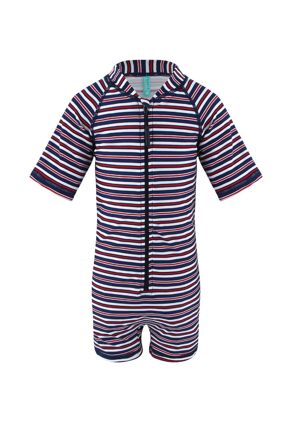 UPF50+ Junior sunsuit Half Sleeve (Unisex) in Starstruck Print