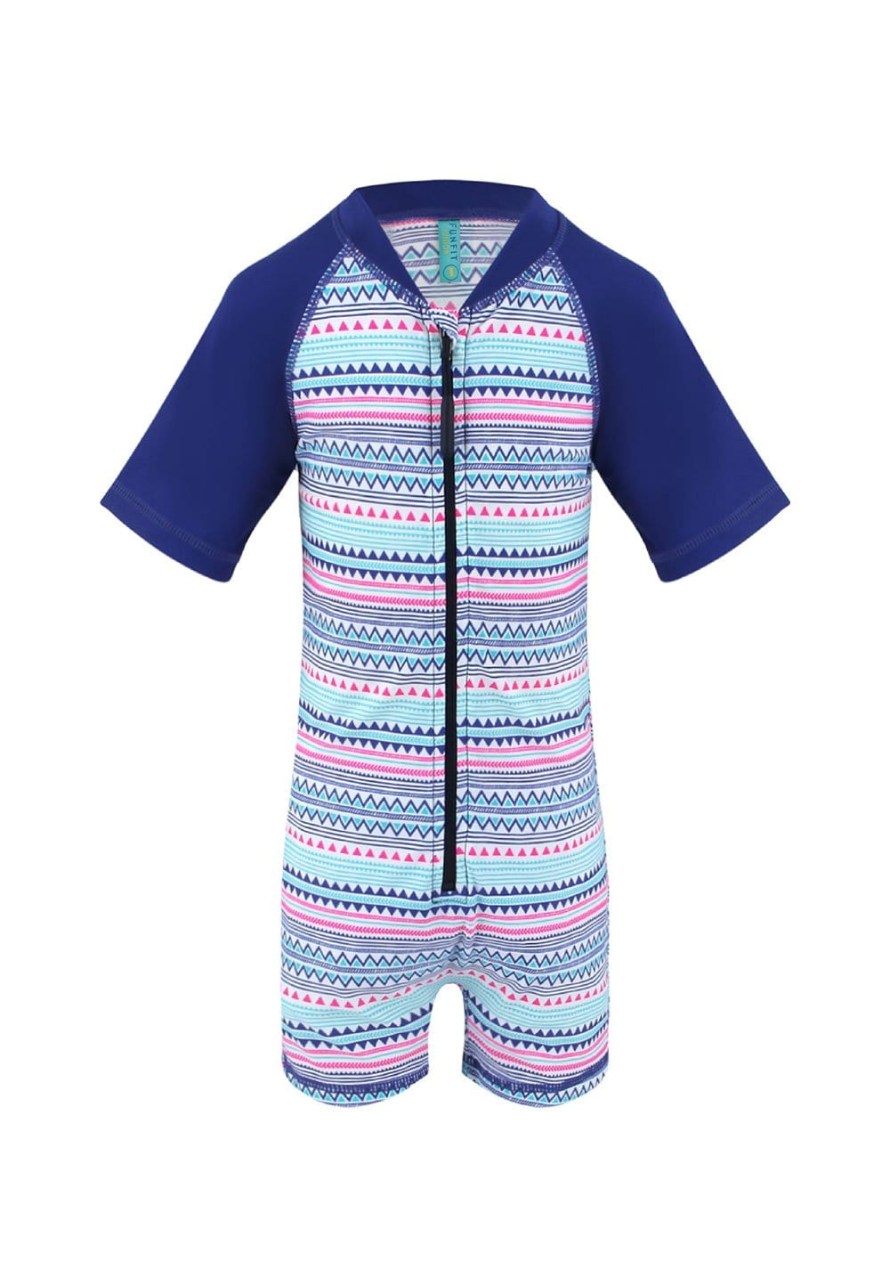 FUNFIT UPF50+ Junior Sunsuit (Unisex) in Day Starstruck Print