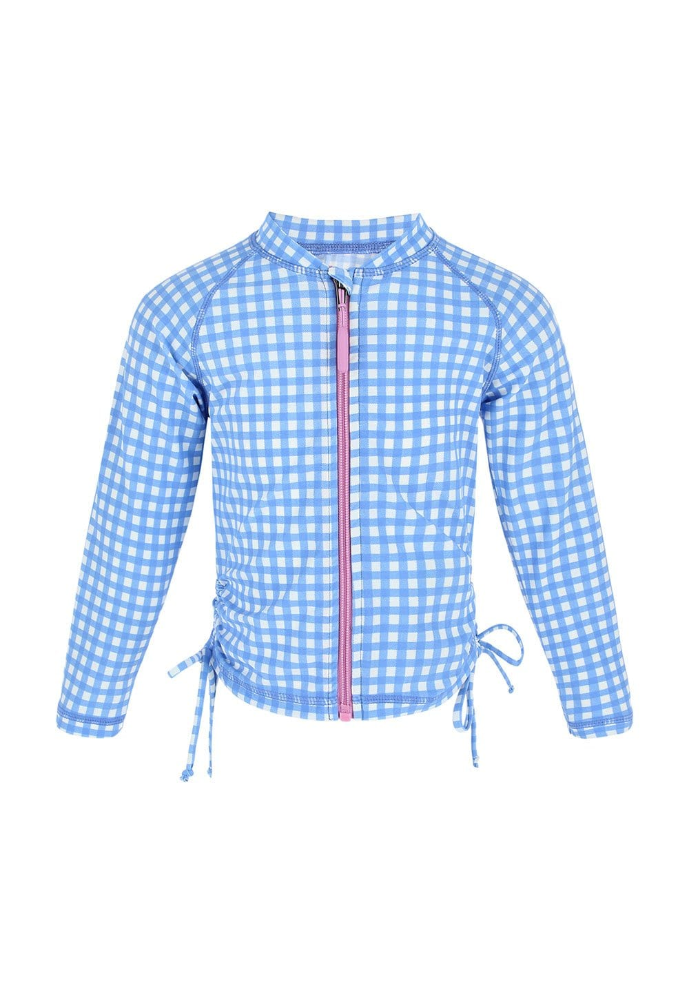 FUNFIT UPF50+ Junior Rash Top (Unisex) in Gingham Summer Print
