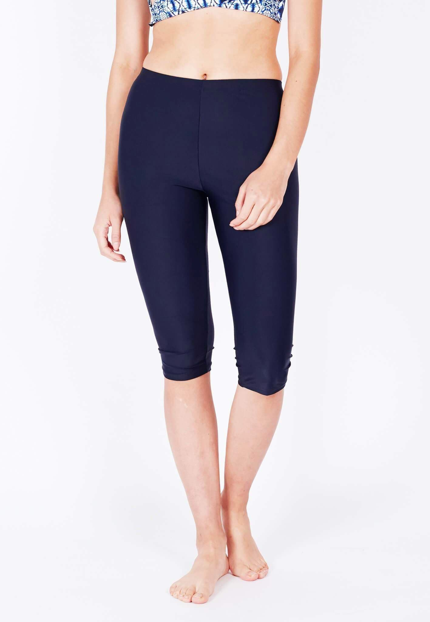 UPF50+ Basic Capri Pants (Navy) | S - 5XL