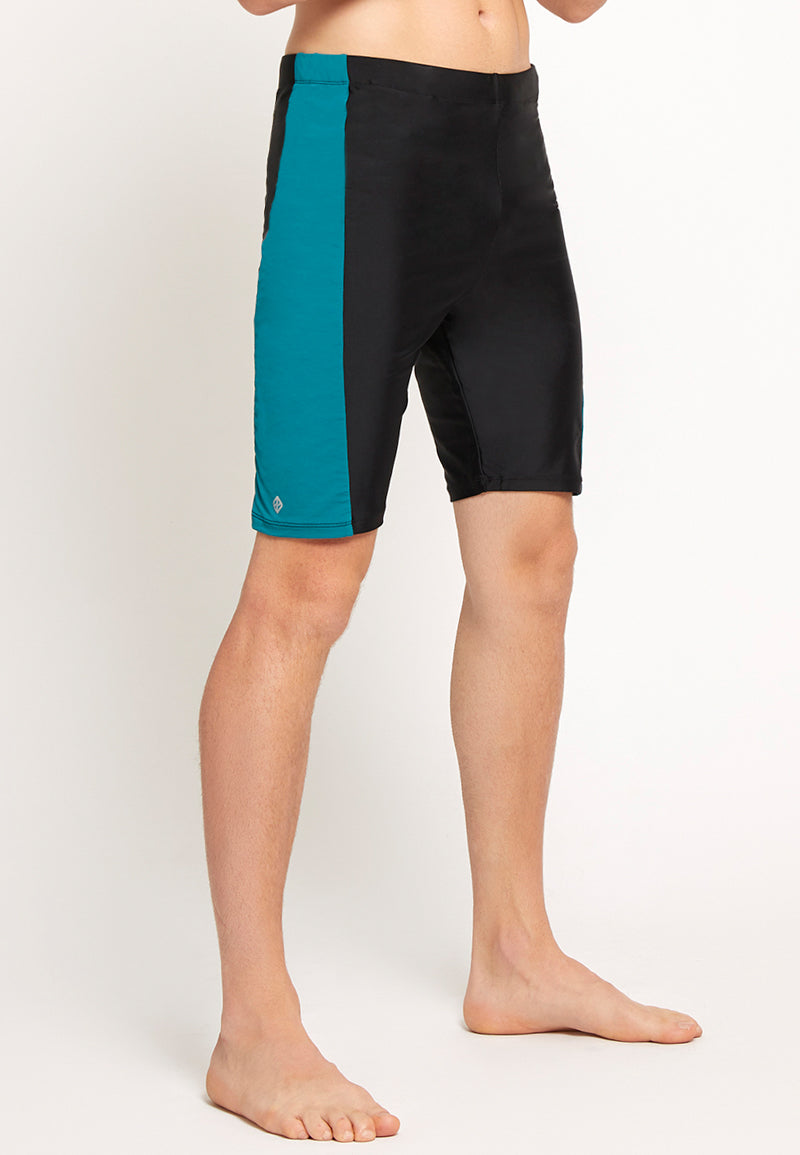 Long-Jammers in Black / Sea Green | S - 3XL