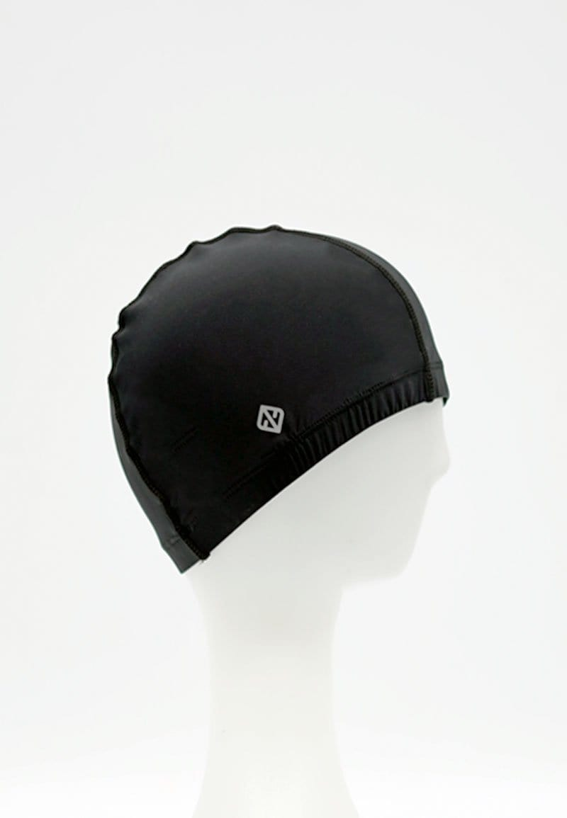 FUNFIT Fabric Swim Cap in Black