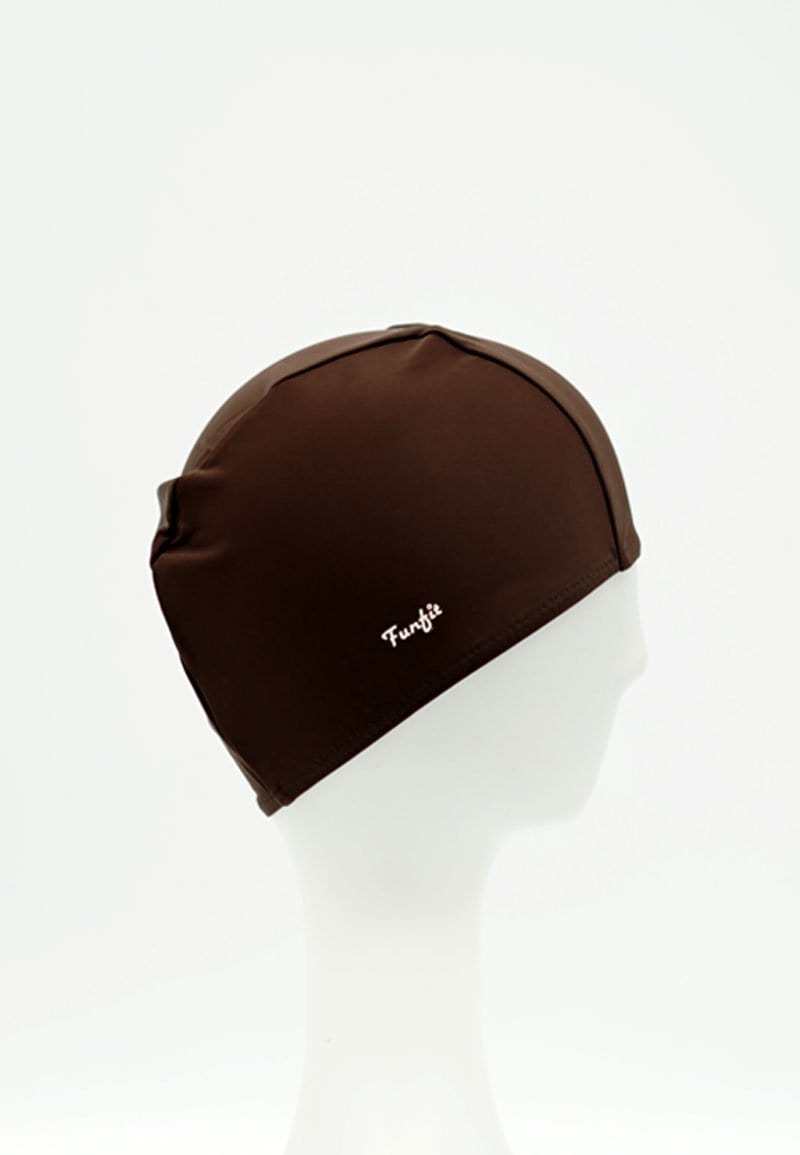 Fabric Swim Cap in Brown