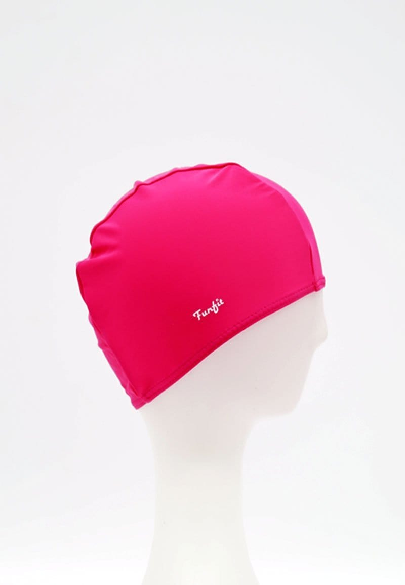 FUNFIT Fabric Swim Cap in Fuchsia