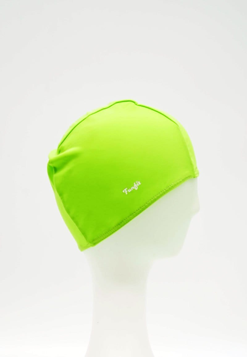 Fabric Swim Cap in Neon Green