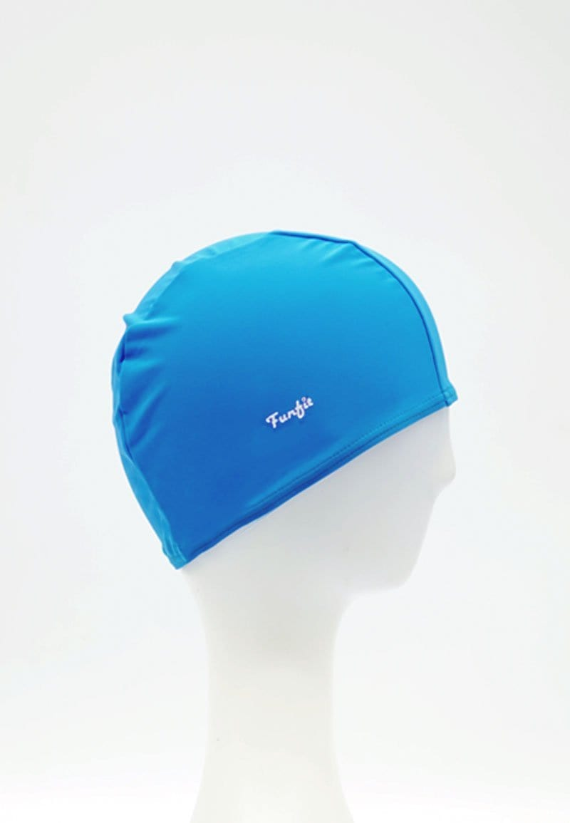 Fabric Swim Cap in Light Blue
