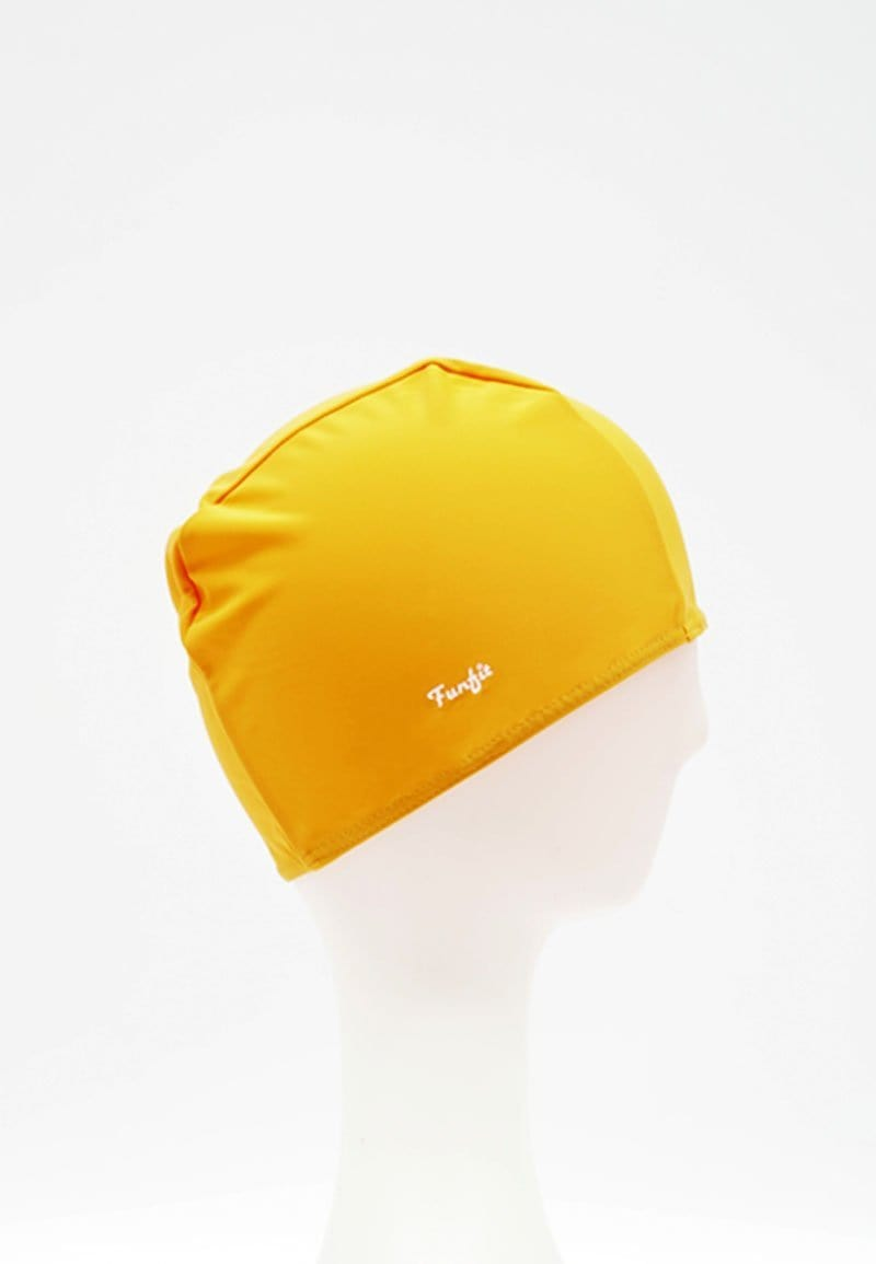 Fabric Swim Cap in Orange