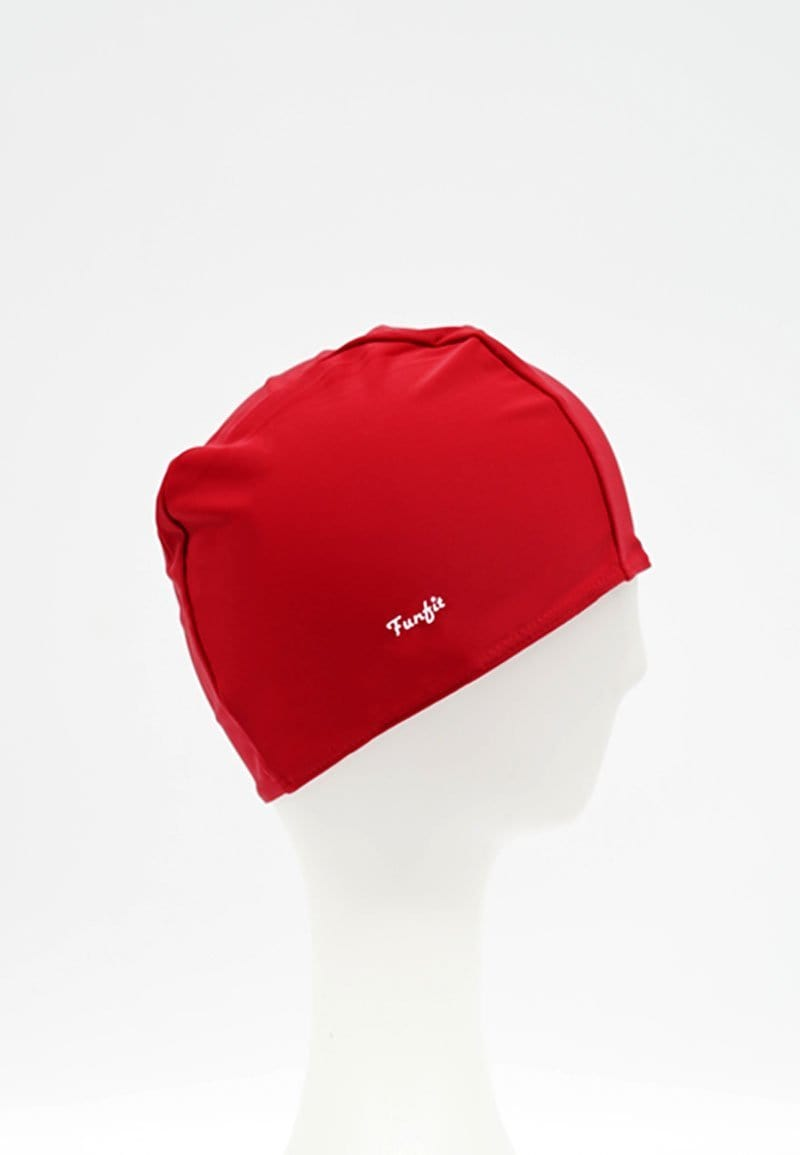 FUNFIT Fabric Swim Cap in Red