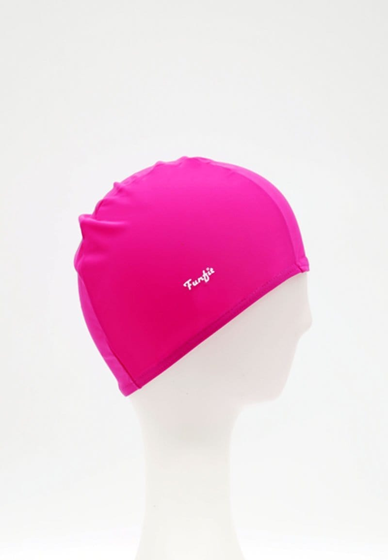 Fabric Swim Cap in Rose Red