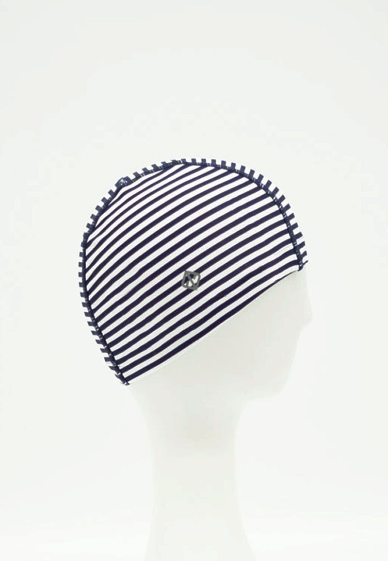 Fabric Swim Cap in Striped Print