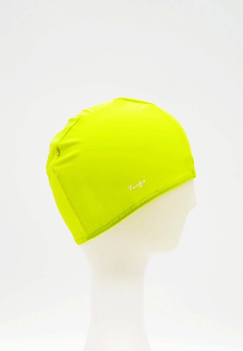 FUNFIT Fabric Swim Cap in Neon Yellow