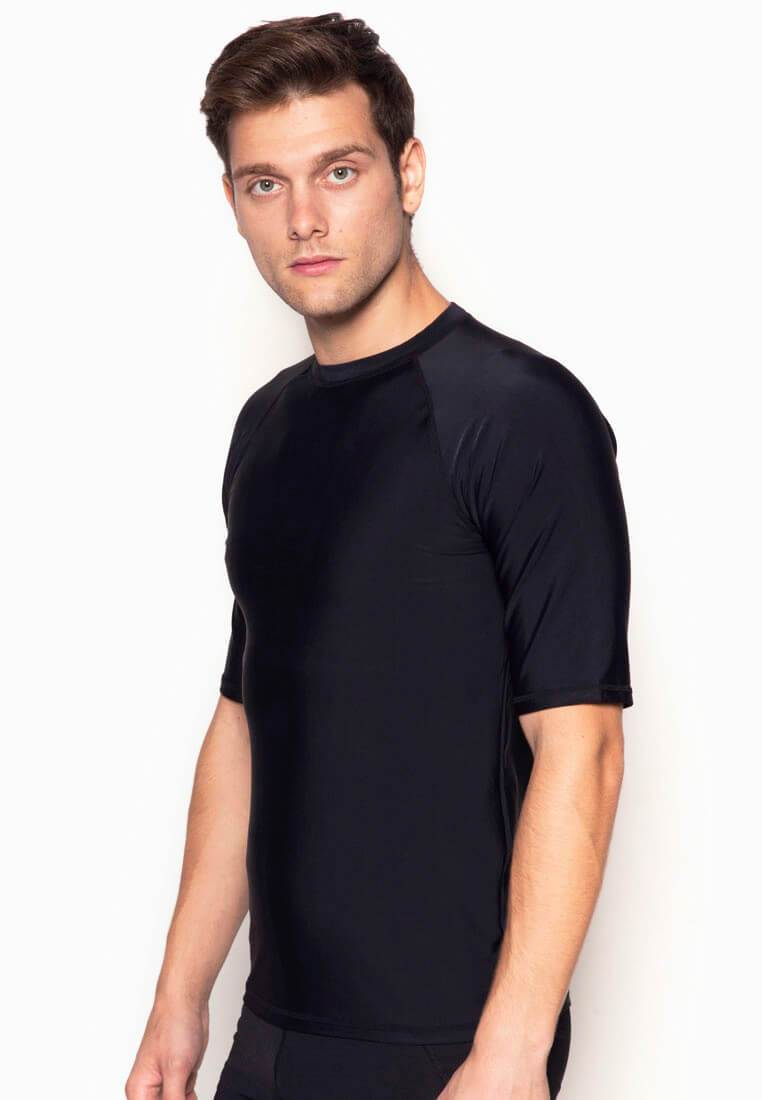 UPF50+ Crew Neck Tee in Black