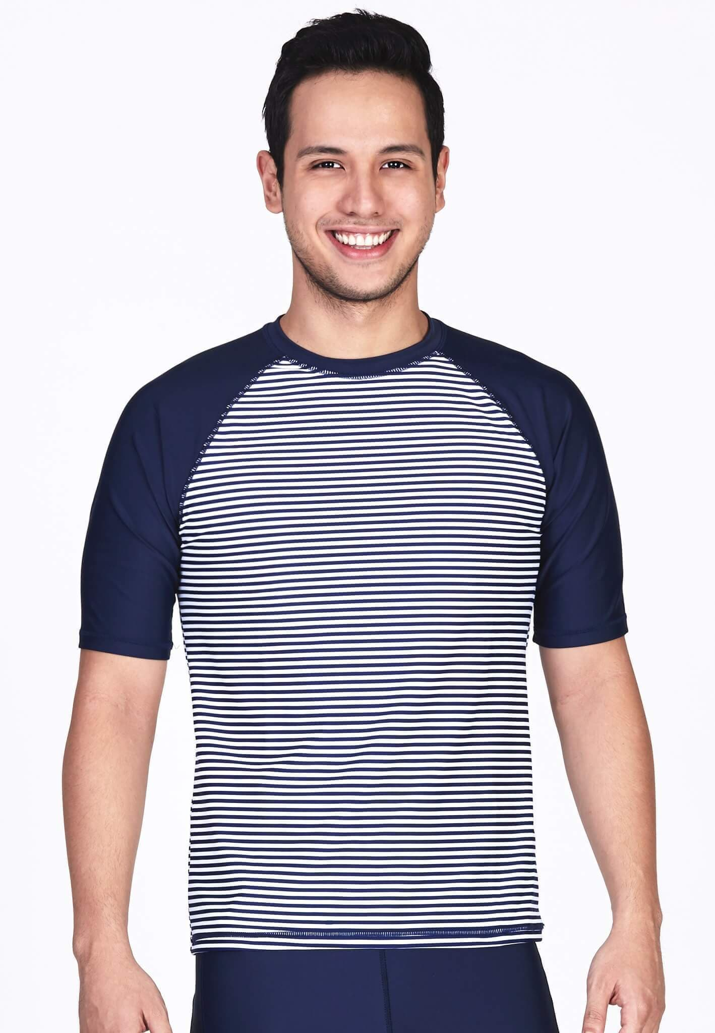 UPF50+ Crew Neck Tee in Nautical/ Navy - FUNFIT