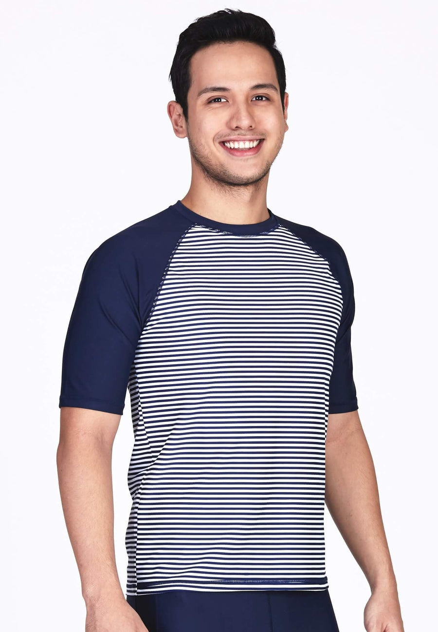UPF50+ Crew Neck Tee in Nautical/ Navy