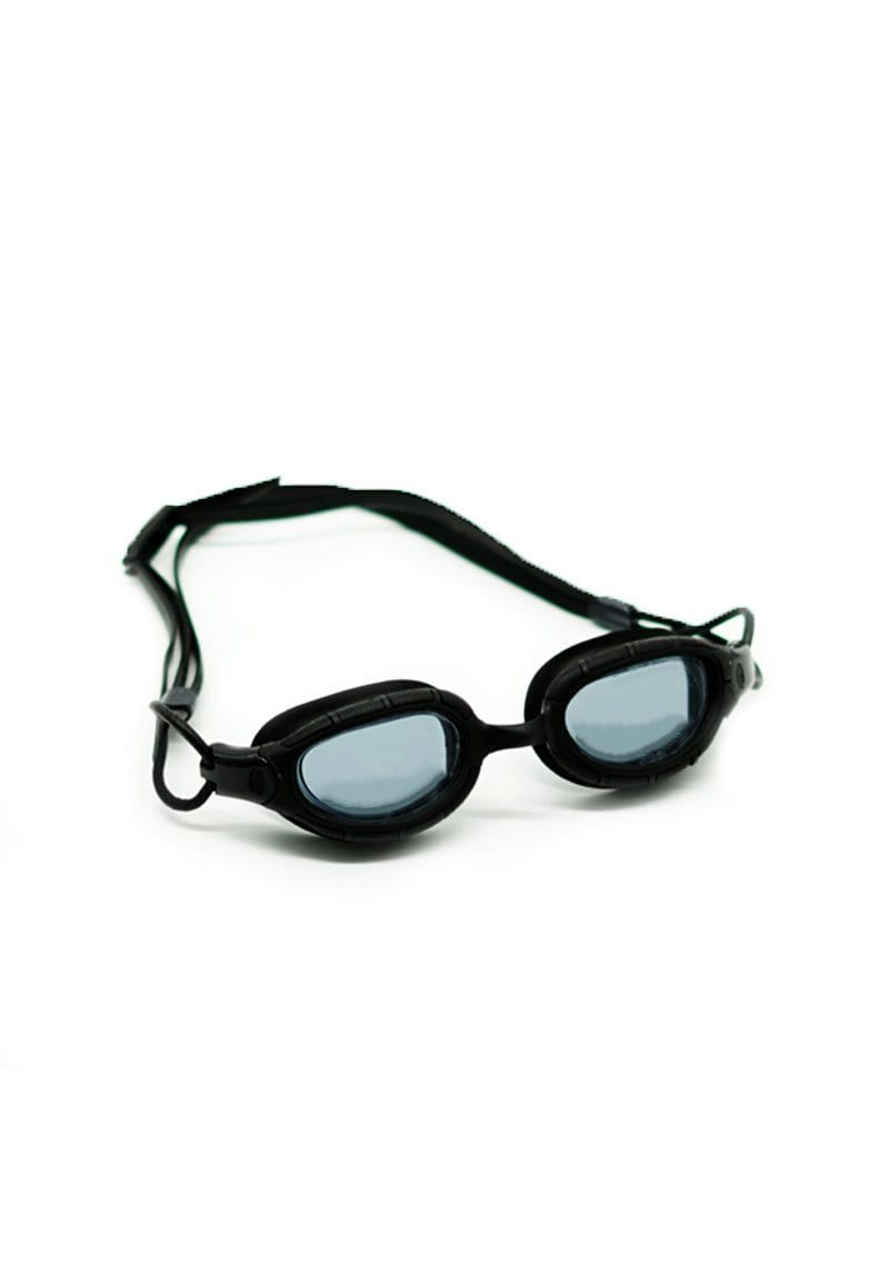 Clear Oval Goggles in Black