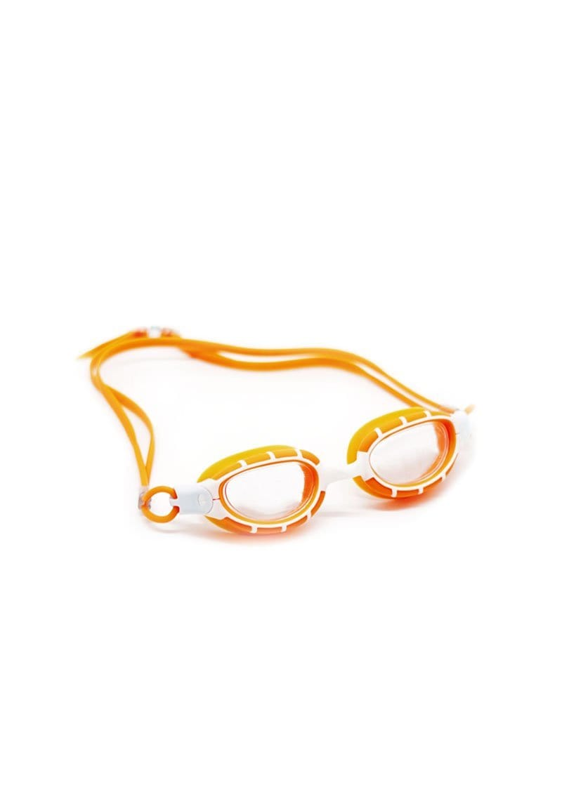 Clear Oval Goggles in Orange
