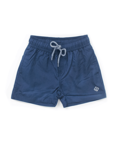 UPF50+ Junior Boardshorts with Shark Print-FUNFIT