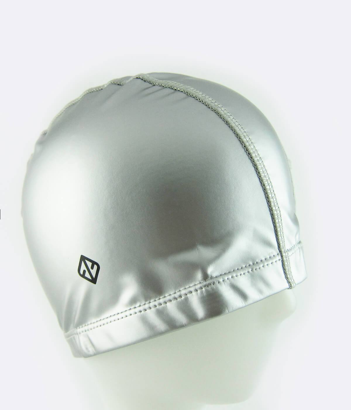 PU Coated Swimming Cap in Matte Silver - FUNFIT