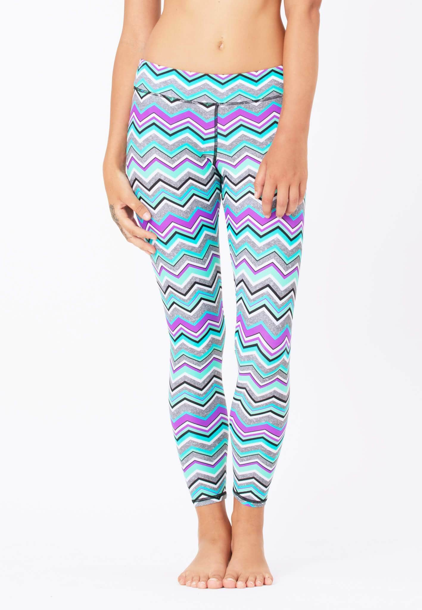 FUNFIT Swim Tights in Solstice Chevron Print (XS - 2XL)
