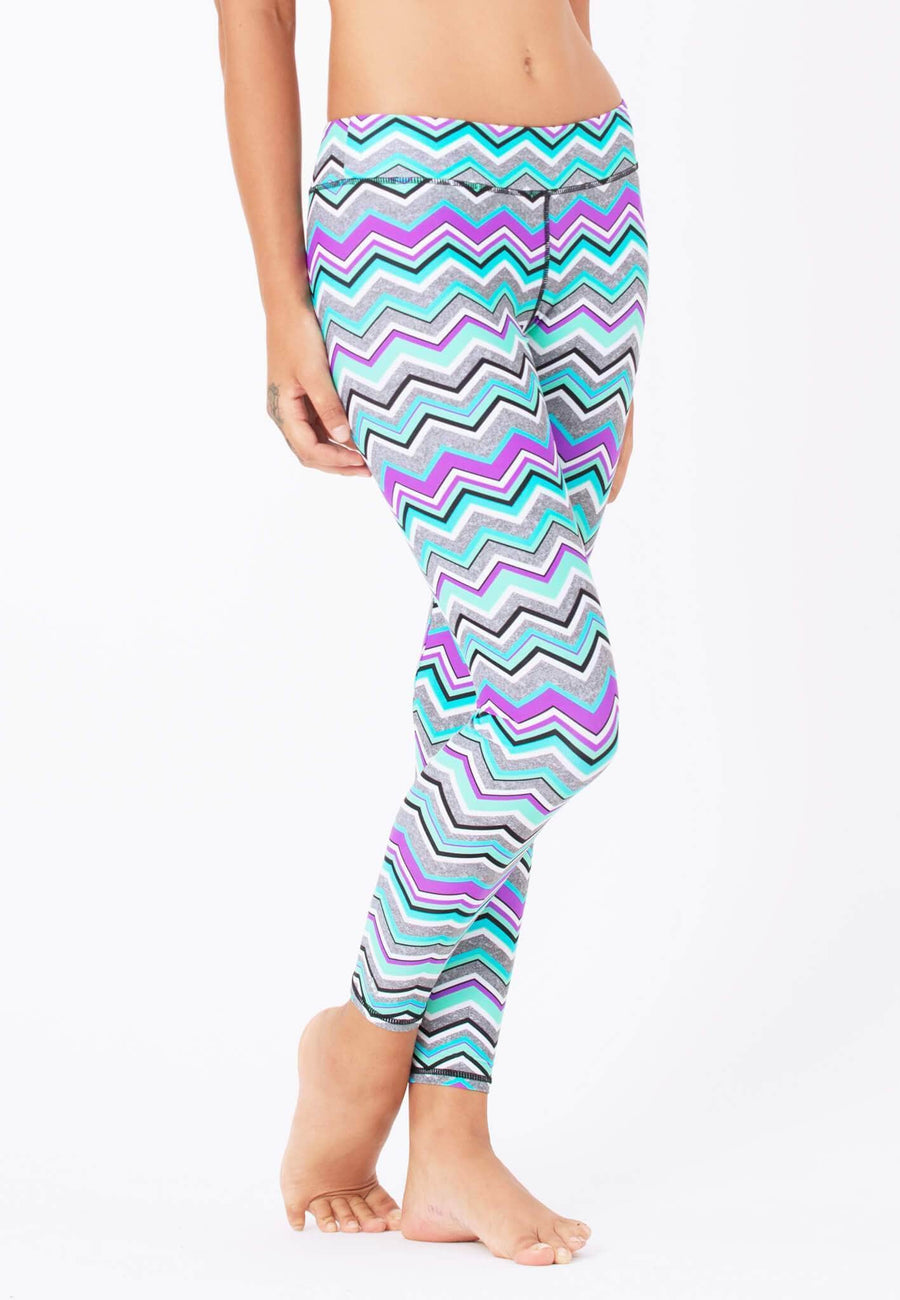 Swim Tights in Solstice Chevron Print - FUNFIT