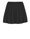 Pleated Swim Skorts in Black