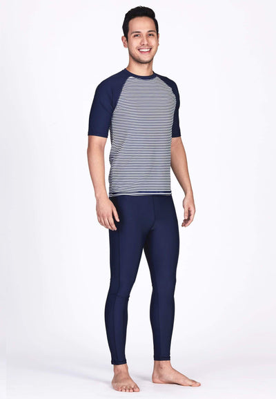 UPF50+ Swim Tights in Navy (Unisex) - FUNFIT