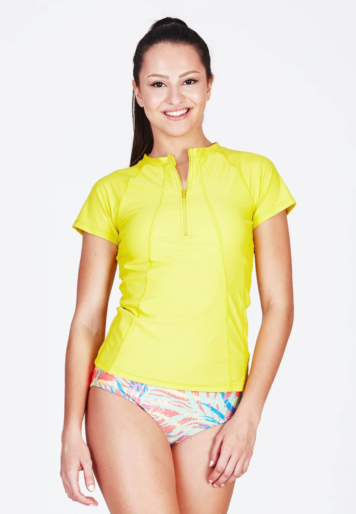 UPF50+ Zip Front Sunvest in Neon Fluro (XS - 2XL)
