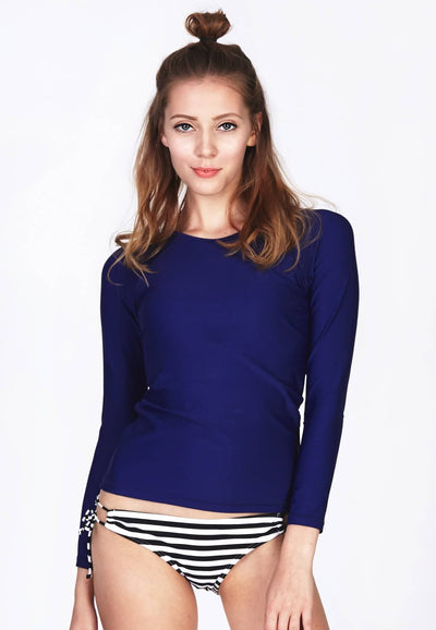 UPF50+ Long Sleeve Rash Top in Dark Blue - FUNFIT