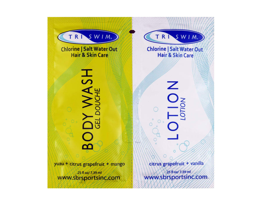 TRISWIM Anti-Chlorine Body Wash-Lotion Travel Sachet
