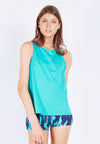 Uplift Tank Top (with Open Back) in Turquoise (S - XL) - FUNFIT