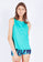 Uplift Tank Top (with Open Back) in Turquoise (S - XL)