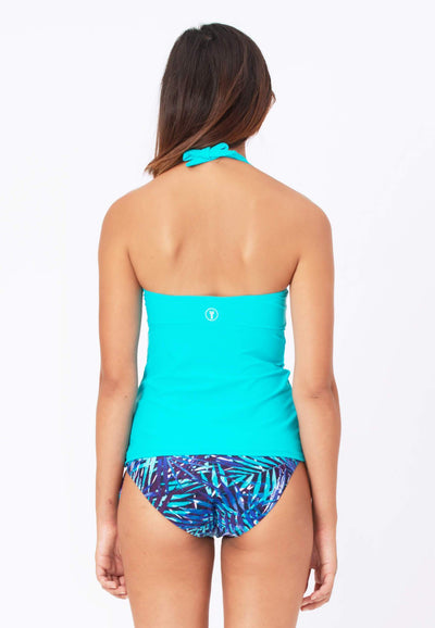 Underwire Tankini Top (with Bow) in Turquoise - FUNFIT