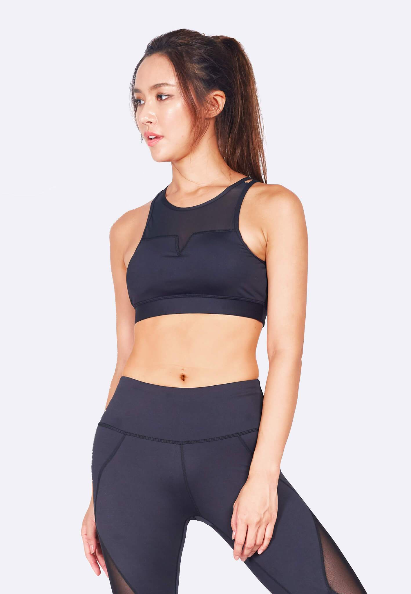 FUNFIT Revival Crossback Sports Bra (Black) | S - 3XL