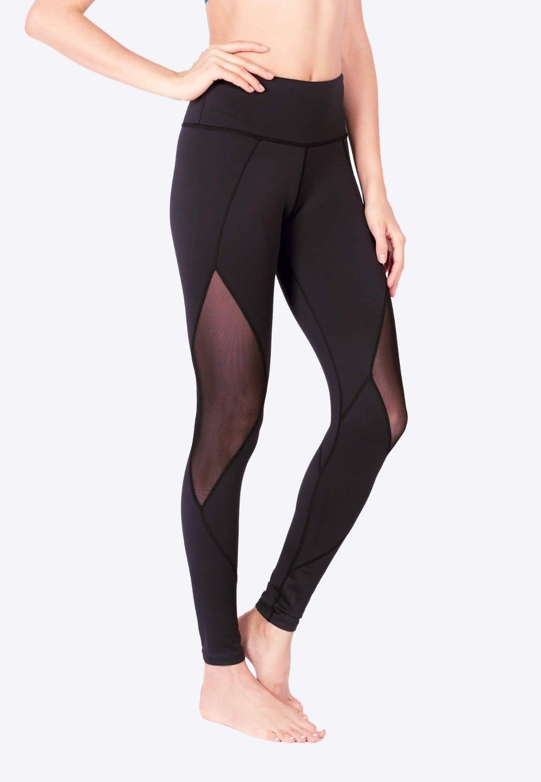 FUNFIT LIMITLESS Diamond Mesh Leggings (with Keeperband®) (Black) | XS - 3XL