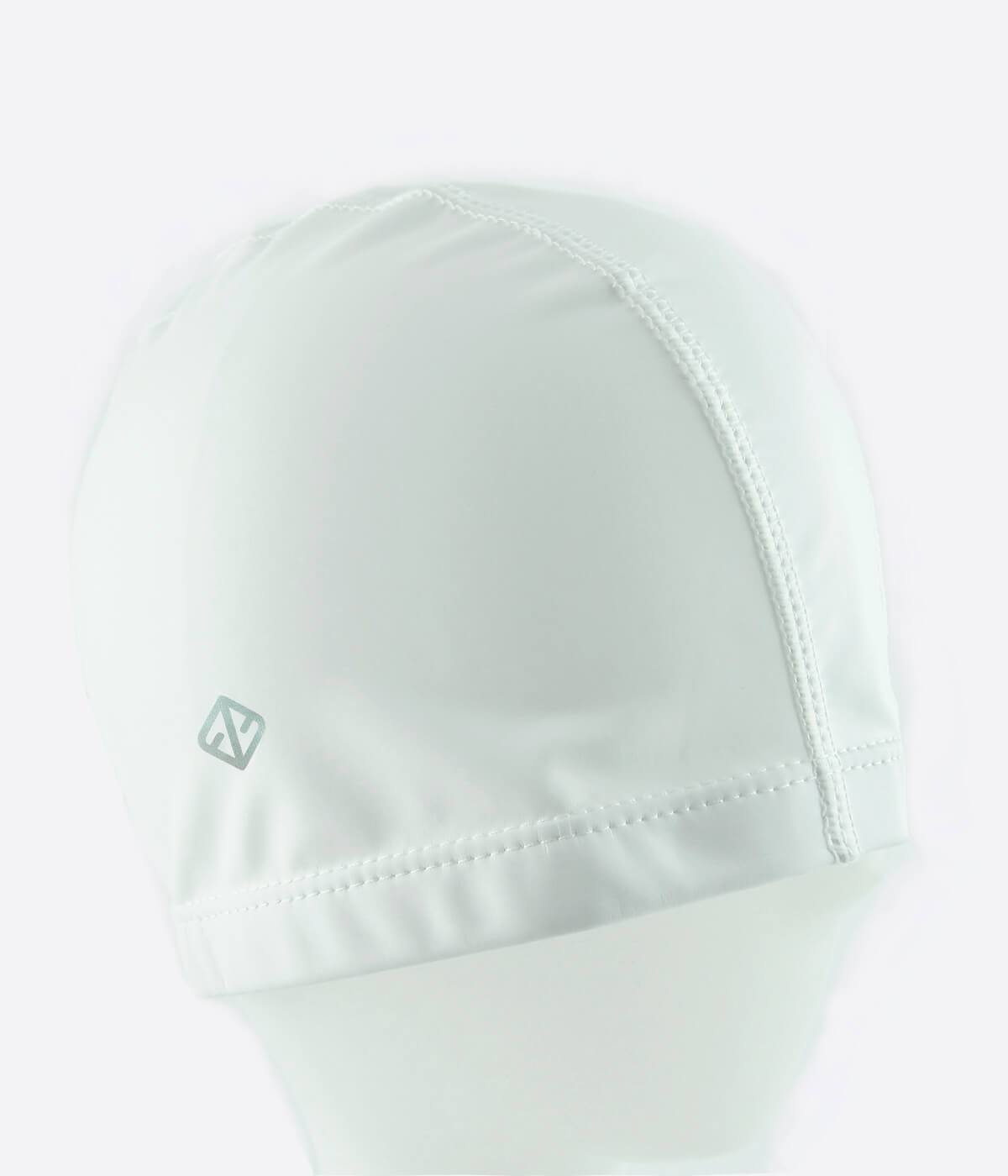 FUNFIT PU Coated Swimming Cap in White