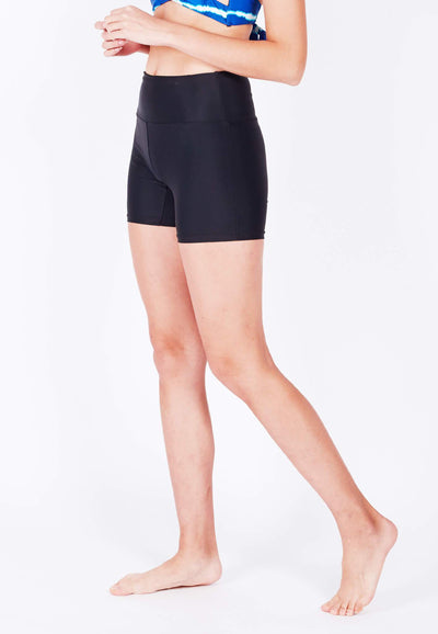 UPF50+ Bike Shorts in Black (with KeeperBand®) - FUNFIT