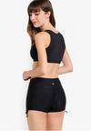 Wide Waistband Shorts II in Black (with KeeperBand®) - FUNFIT