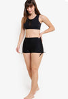 Wide Waistband Shorts II (with KeeperBand®) in Black (S - 2XL) - FUNFIT
