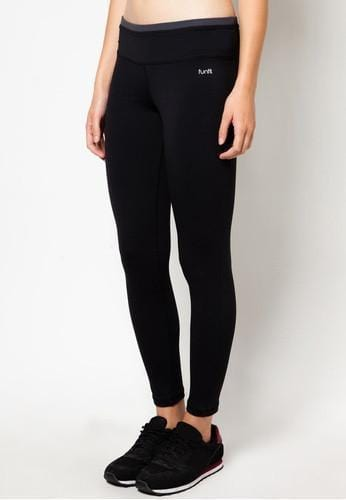 Active Stretch Leggings in Black/ Grey - FUNFIT