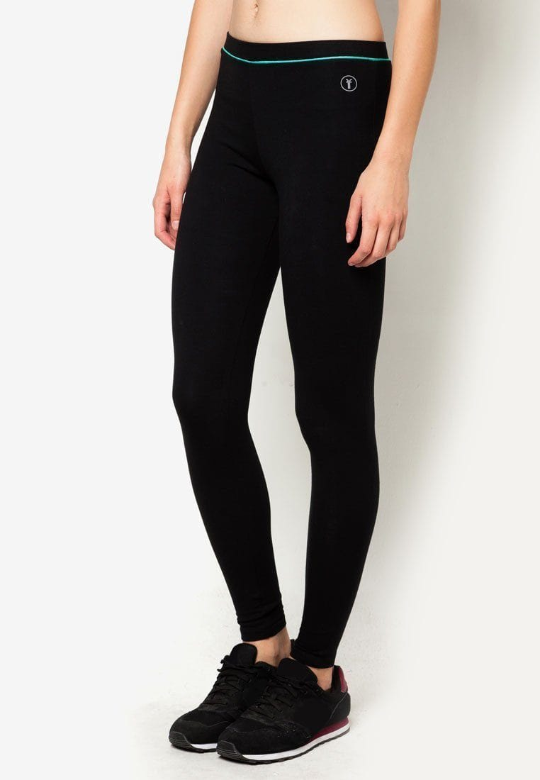 Training Full Leggings in Black/ Green (S - 3XL)