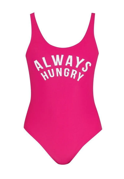 """Always Hungry"" Swimsuit in Raspberry Pink - FUNFIT"