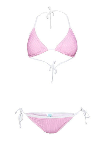 Bikini Set in Dotted Print (Pink) - FUNFIT