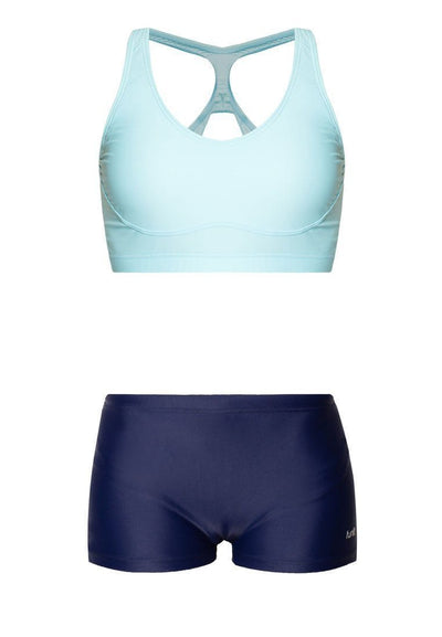 Crop Set in Turquoise/ Navy - FUNFIT