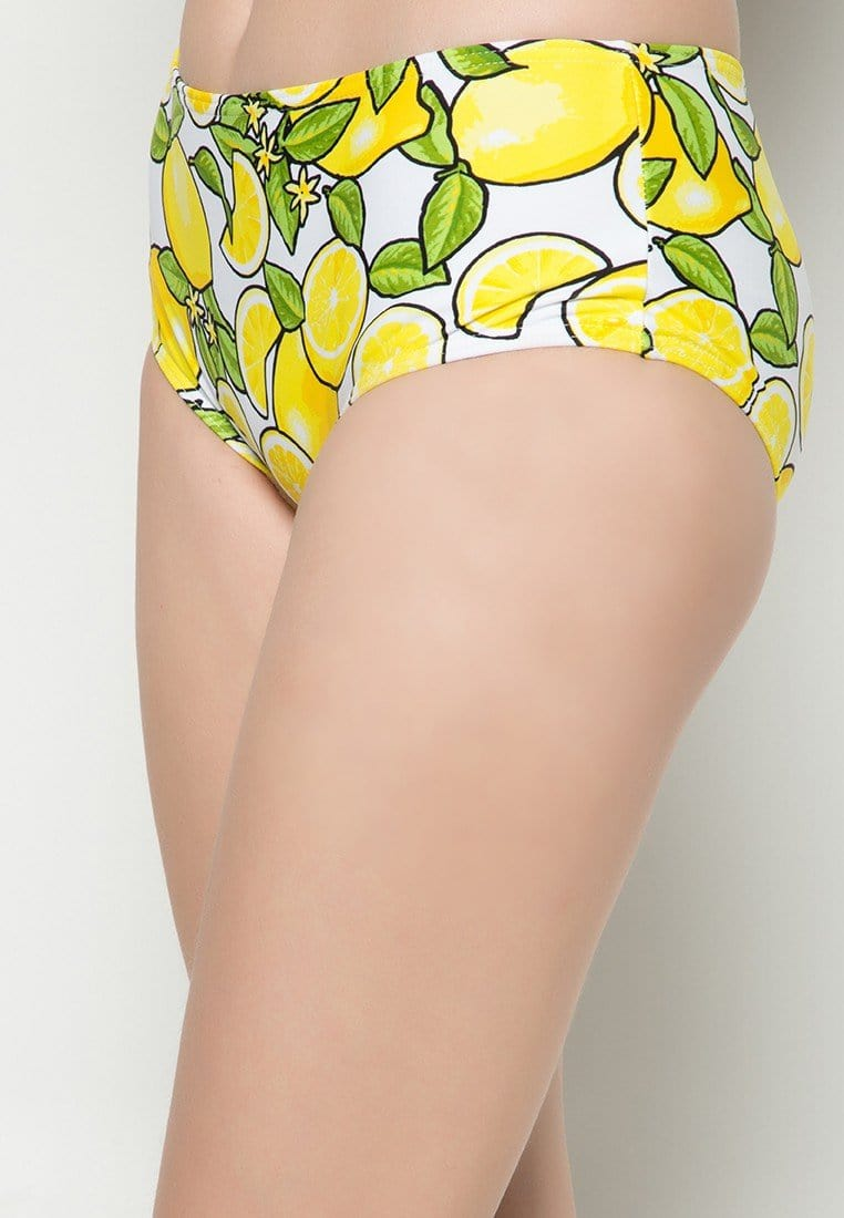 Boyleg Swim Bottom in Lemonade Print (S - L) - FUNFIT