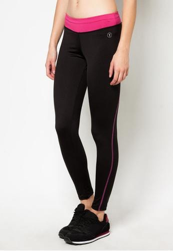 Tapered Bottom Leggings in Black/Pink (S - L) - FUNFIT