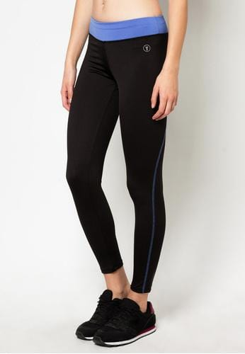 Tapered Bottom Leggings in Black/Blue (S - L) - FUNFIT