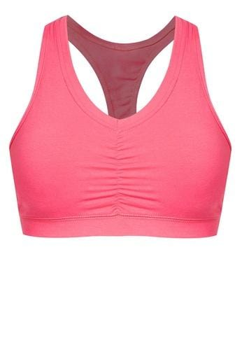 Energy Cotton Sports Bra in Pink - FUNFIT