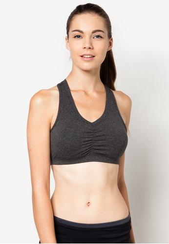 Energy Cotton Sports Bra in Grey (S - 2XL) - FUNFIT